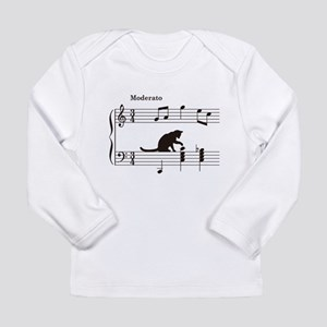 Cat Toying with Note v.2 Long Sleeve Infant T-Shir