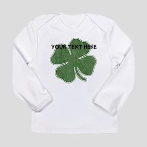Personalizable Vintage Shamrock Long Sleeve T-Shir