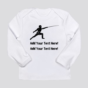 Personalize It, Fencing Long Sleeve T-Shirt