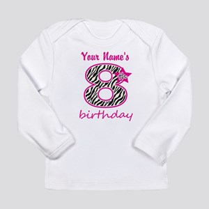 8th Birthday - Personalized Long Sleeve T-Shirt