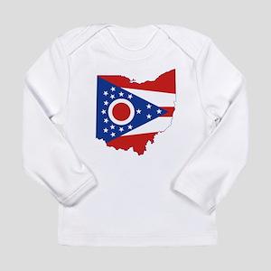 Ohio Flag Long Sleeve Infant T-Shirt