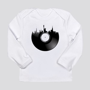 New York City Vinyl Record Long Sleeve T-Shirt