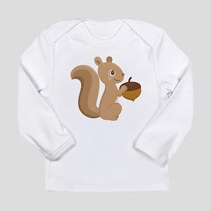 Cartoon Squirrel Long Sleeve T-Shirt