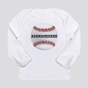 Personalized Baseball Red/White Long Sleeve Infant