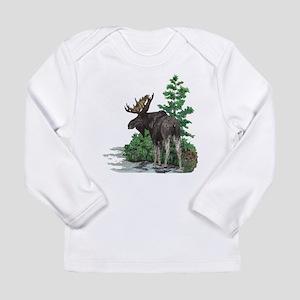 Bull moose art Long Sleeve Infant T-Shirt