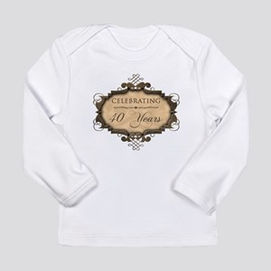 40th Wedding Aniversary (Rustic) Long Sleeve Infan
