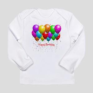 Happy Birthday Balloons Long Sleeve T-Shirt