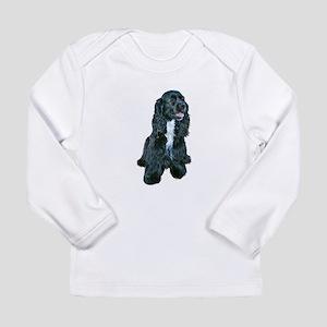 Cocker (black- white bib) Long Sleeve Infant T-Shi