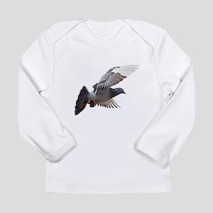 pigeon fly to love joy peace Long Sleeve T-Shirt
