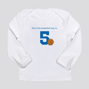 Basketball Star Custom Age Long Sleeve T-Shirt