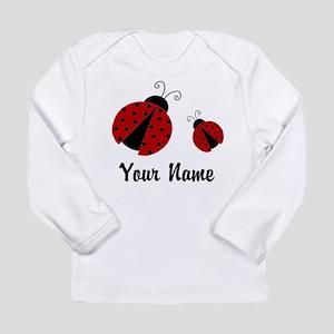 Ladybugs Red Personalized Long Sleeve T-Shirt