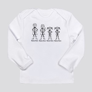 Personalized Super Family 2 Girls Long Sleeve Infa