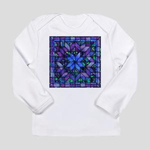 Blue Quilt Long Sleeve T-Shirt