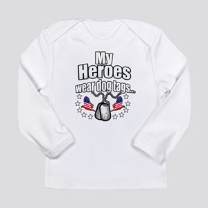 my heroes wear Long Sleeve Infant T-Shirt