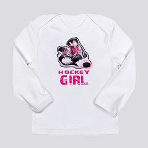hockey girl Long Sleeve T-Shirt