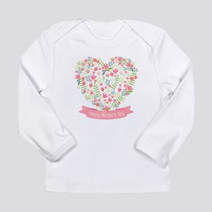 Happy mothers day, flower heart with ribbon Long S
