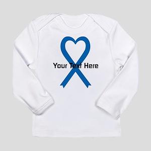 Personalized Blue Ribbo Long Sleeve Infant T-Shirt