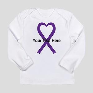 Personalized Purple Rib Long Sleeve Infant T-Shirt