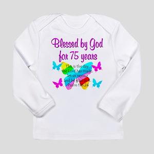 75 YR OLD ANGEL Long Sleeve Infant T-Shirt
