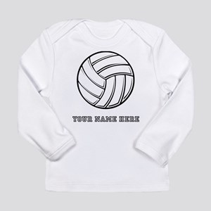 Custom Volleyball Long Sleeve T-Shirt