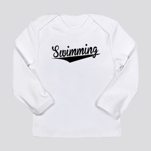 Swimming, Retro, Long Sleeve T-Shirt