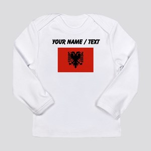 Custom Albania Flag Long Sleeve T-Shirt