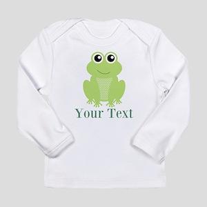 Personalizable Green Frog Long Sleeve T-Shirt