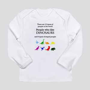 Ten Types Of People (Dinosaurs) Long Sleeve T-Shir