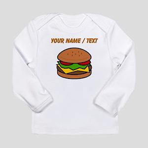 Custom Hamburger Long Sleeve T-Shirt