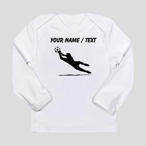 Custom Soccer Goalie Silhouette Long Sleeve T-Shir