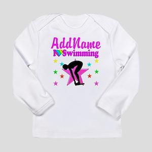 LOVE SWIMMING Long Sleeve Infant T-Shirt