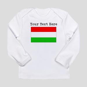 Custom Hungary Flag Long Sleeve T-Shirt