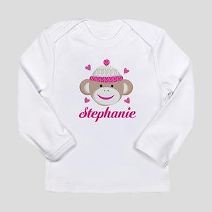Personalized Sock Monkey Long Sleeve T-Shirt