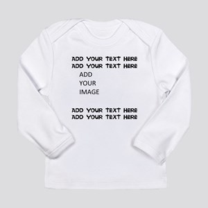 Custom Text and Image Long Sleeve T-Shirt