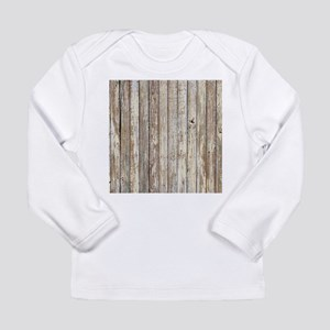shabby chic white barn wood Long Sleeve T-Shirt