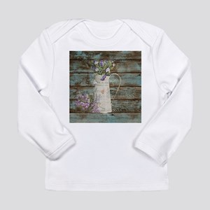 rustic lavender western countr Long Sleeve T-Shirt
