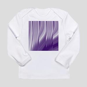 abstract purple grey Long Sleeve T-Shirt
