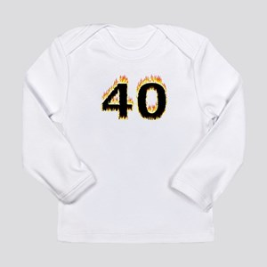 40 (Flames) Long Sleeve T-Shirt