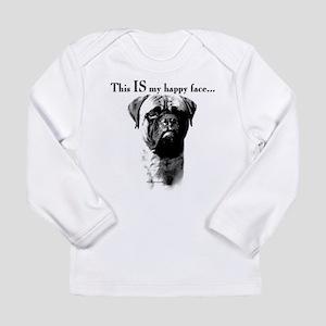 Bullmastiff Happy Face Long Sleeve T-Shirt