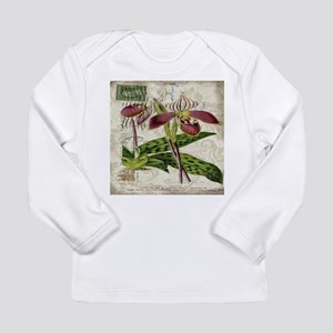 vintage orchid french botanica Long Sleeve T-Shirt