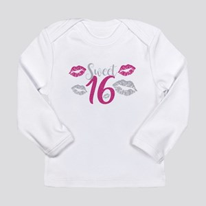 Sweet Sixteen 16 Birthday Glit Long Sleeve T-Shirt