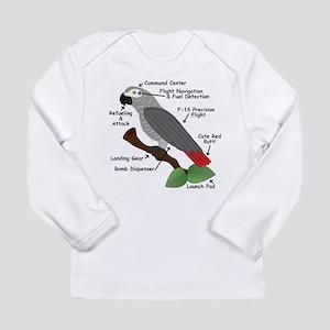 Anatomy of an African Grey Par Long Sleeve T-Shirt