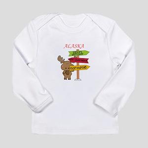 Alaska Moose What Way To The N Long Sleeve T-Shirt