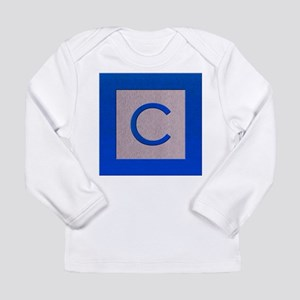 Wood Bock Letter C Long Sleeve T-Shirt