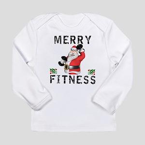 Merry Fitness Santa Long Sleeve T-Shirt