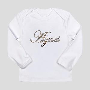 Gold Agnes Long Sleeve T-Shirt