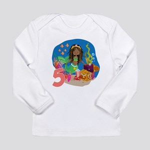 Mermaid 5th Birthday Long Sleeve T-Shirt