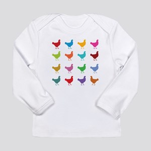 Colorful Chickens Long Sleeve T-Shirt