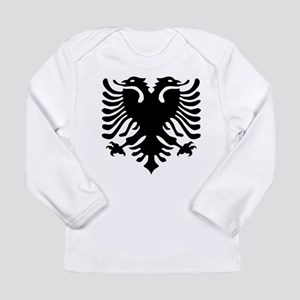 Albanian Eagle Emblem Long Sleeve T-Shirt