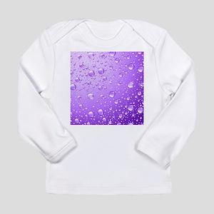 Metallic Purple Abstract Rain Long Sleeve T-Shirt